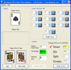 blackjack Analyzer