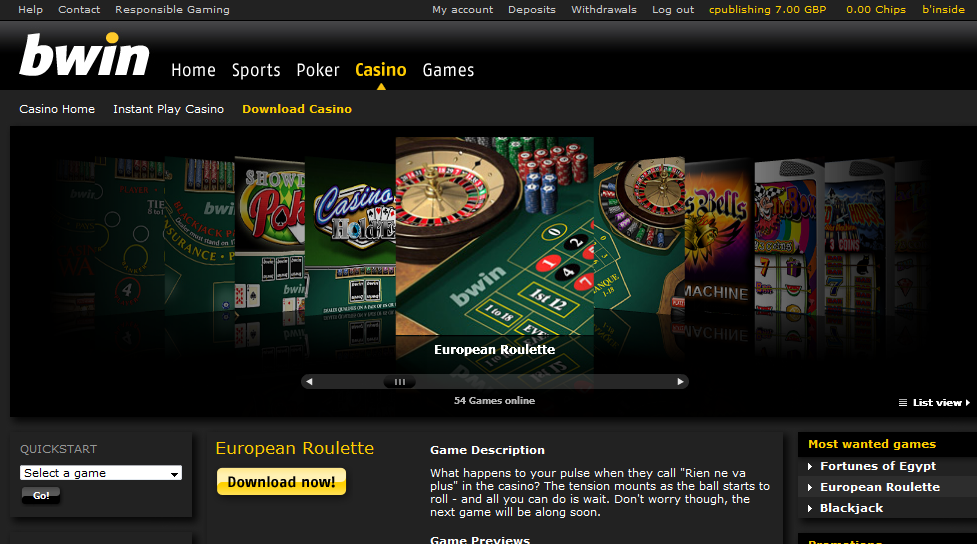 Telecharger bwin poker france blackjack hobby shop